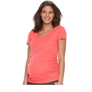 caf8a3b3bc436 a:glow Tops   Maternity Ruched Vneck Tee   Poshmark